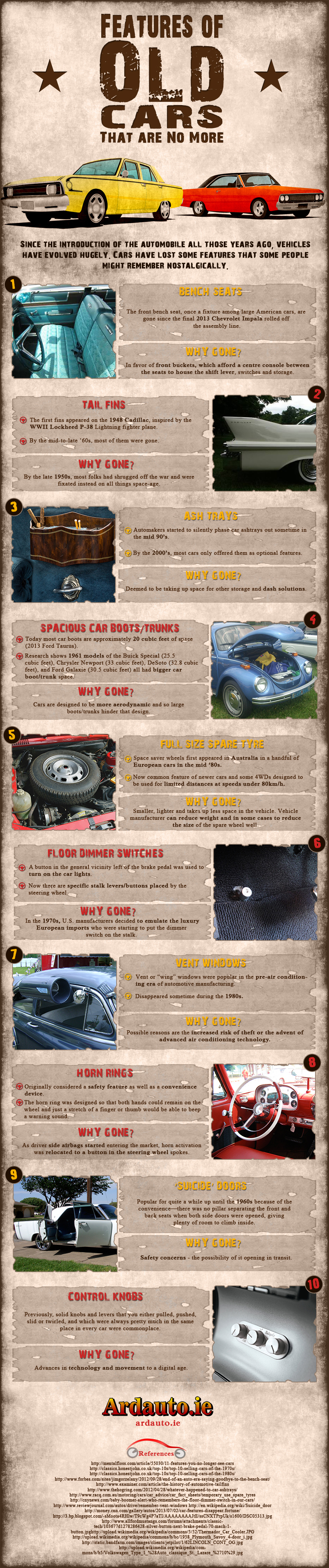 10 Old Car Features We Desperately Miss [Infographic]